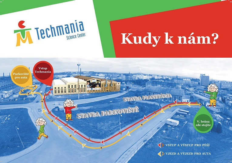 Kudy do Techmania Science Center?