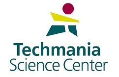 Logo Techmania Science Center.