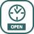 Ikona pravého menu: Otevírací hodiny - aktivní
