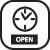Ikona pravého menu: Otevírací hodiny