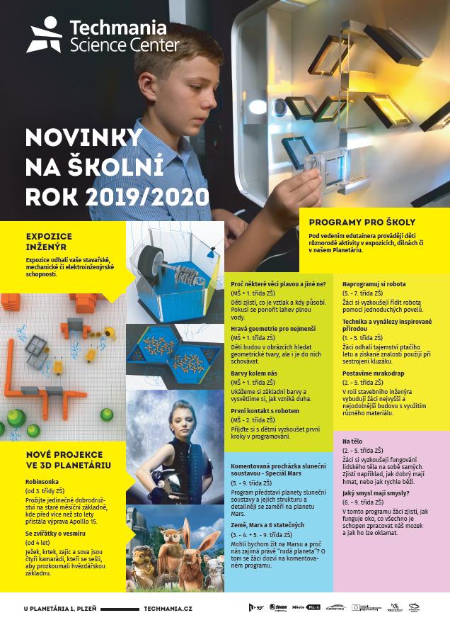 Obálka brožury pro školy zobrazuje exponát Plasma koule a ruce naší manažerky pro školy Terezy Beránkové.